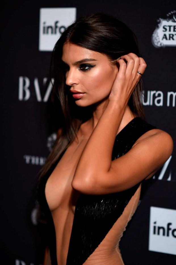 Emily Ratajkowski attends Harper's Bazaar's celebration of