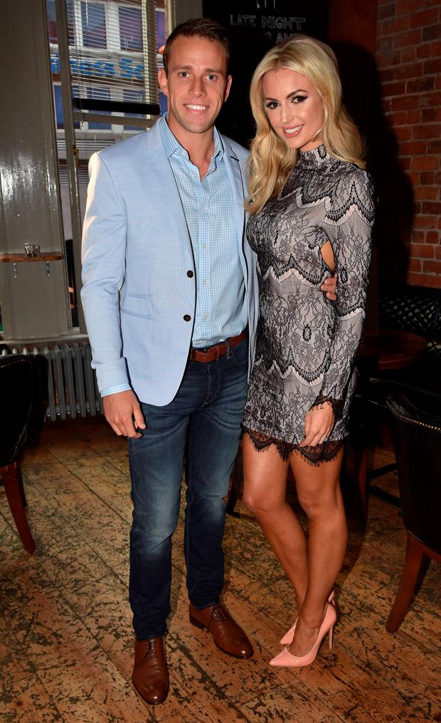 Rosanna Davison and husband Wesley Quirke launch her Eat Yourself Fit book at Rustic Stone