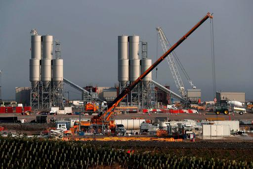 Hinkley Point C nuclear power station site is seen near Bridgwater in Britain, September 14, 2016. REUTERS/Stefan Wermuth