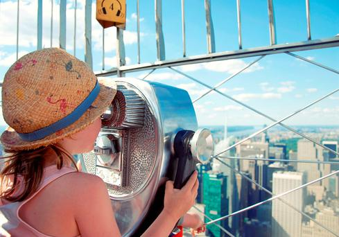 The view from the Empire State building is a highlight for kids