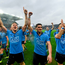 Dublin players, from left, Paul Flynn, Bernard Brogan and Alan Brogan celebrate last year's All Ireland