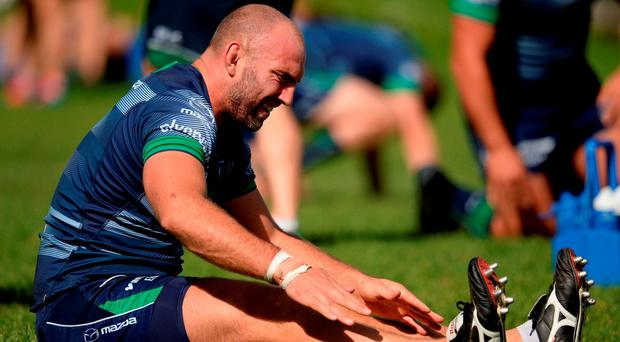 Connacht captain John Muldoon in action during squad training at the Sportsground in Galway. Photo by Seb Daly/Sportsfile