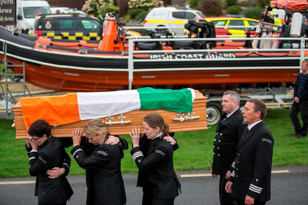 The funeral procession of Caitríona Lucas in Liscannor County Clare. Pic: Mark Condren