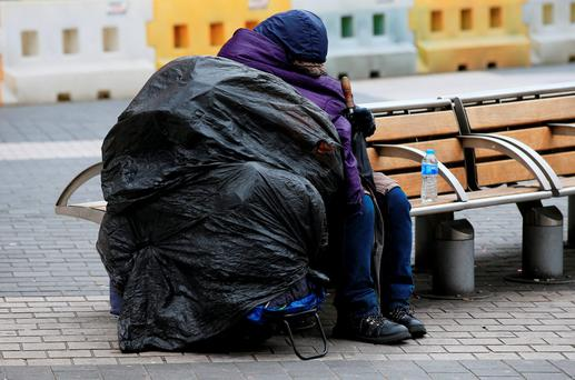 The Government has committed to trebling funding for mental health and primary care services for homeless people to €6m in an effort to tackle the mounting homelessness crisis. Stock photo. Credit: Jonathan Brady/PA Wire