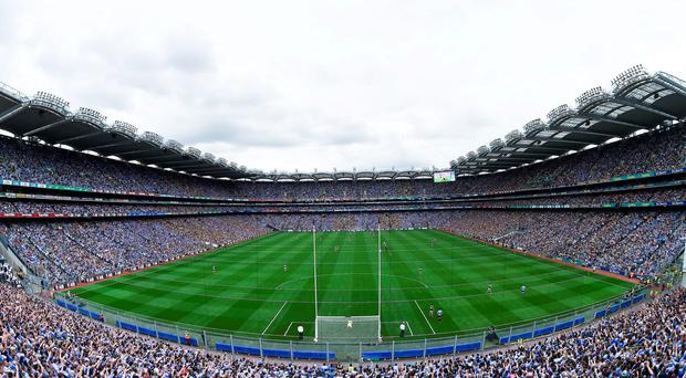 28 August 2016: A general view of Croke Park during the GAA Football All-Ireland Senior Championship Semi-Final match between Dublin and Kerry at Croke Park in Dublin. Photo by Stephen McCarthy/Sportsfile