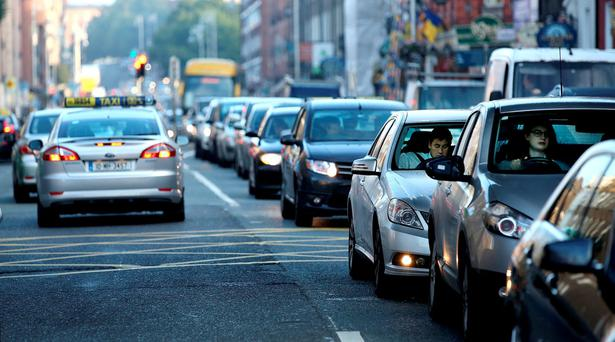 City centre traffic during rush hour. Picture: Gerry Mooney