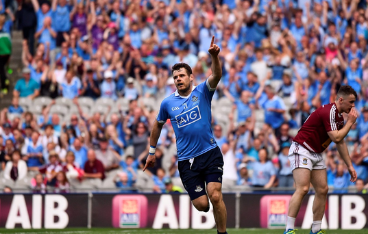 Kevin McManamon of Dublin celebrates