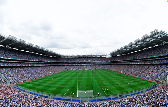 A general view of Croke Park during the GAA Football All-Ireland Senior Championship Semi-Final match between Dublin and Kerry