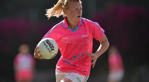 19 March 2016; Carla Rowe, Dublin and 2015 All Stars. TG4 Ladies Football All-Star Tour, 2014 All Stars v 2015 All Stars. University of San Diego, Torero Stadium, San Diego, California, USA. Picture credit: Brendan Moran / SPORTSFILE