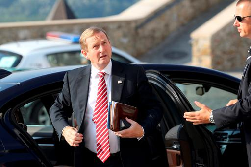 Taoiseach Enda Kenny arrives for the European Union summit- the first one since Britain voted to quit- in Bratislava, Slovakia. Picture: REUTERS/Yves Herman