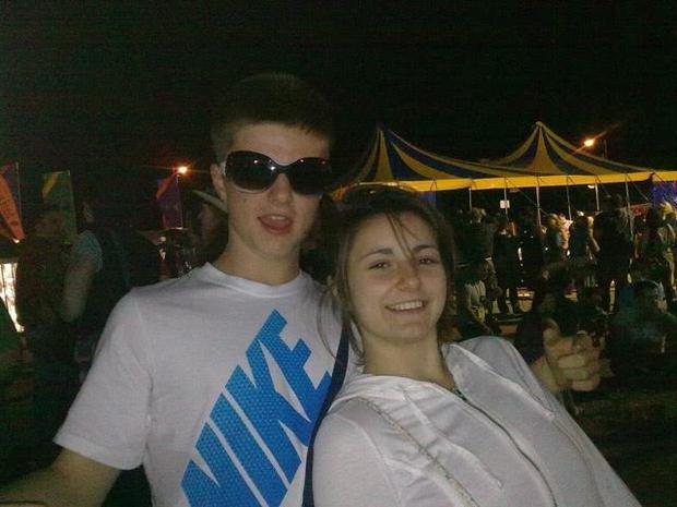 Darragh pictured with his sister Ciara, who is now 22