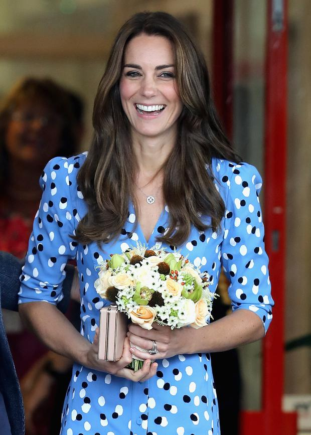 Kate Middleton leaves Steward's Academy on September 16, 2016 in Harlow, England. (Photo by Chris Jackson/Getty Images)