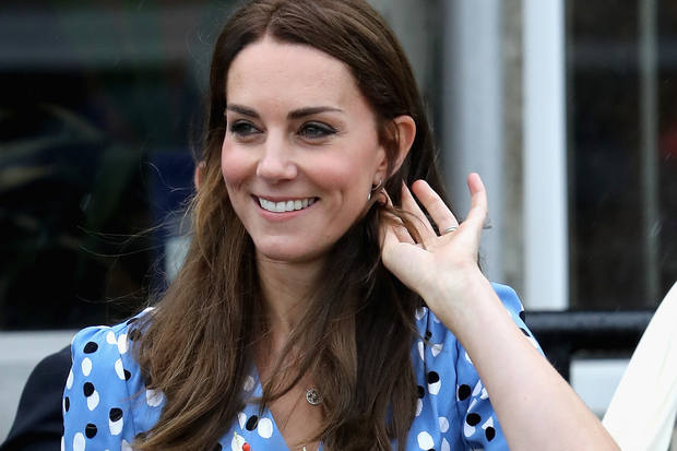 Catherine, Duchess of Cambridge leaves Steward's Academy on September 16, 2016 in Harlow, England. (Photo by Chris Jackson/Getty Images)