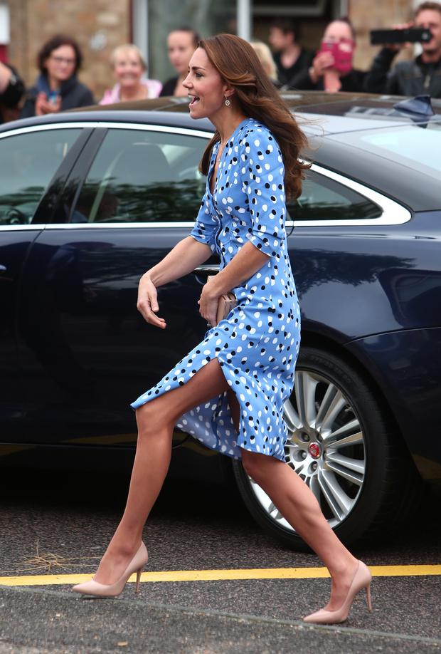 Kate Middleton arrives at Steward's Academy on September 16, 2016 in Harlow, England. (Photo by WENN - WPA Pool/Getty Images)
