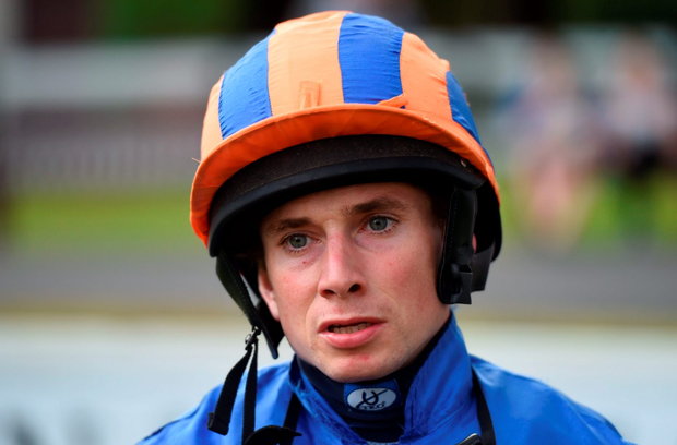 Ryan Moore (p) can steer Dartmouth to victory in the Group Three Dubai Duty Free Legacy Cup Stakes. Photo: Sportsfile