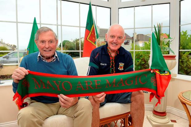 Paddy Prendergast with his friend Paddy Joyce Picture: Domnick Walsh
