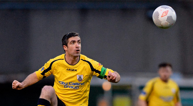 O'Connor's superb strike saw Longford pull Finn Harps into the relegation mire. Photo: Sportsfile