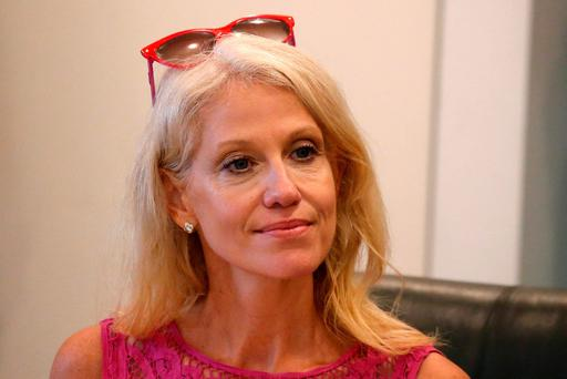Republican presidential nominee Donald Trump's Campaign Manager Kellyanne Conway is pictured during a meeting with Trump's Hispanic Advisory Council at Trump Tower in the Manhattan borough of New York. Pic: REUTERS/Carlo Allegri