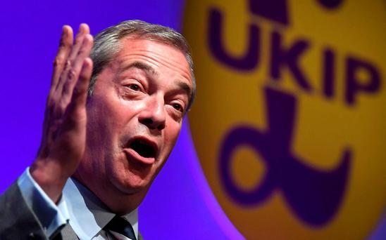 Nigel Farage REUTERS/Toby Melville