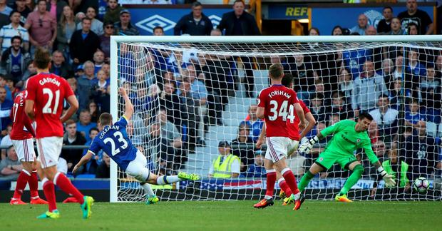 Everton's Seamus Coleman scores their second goal Reuters / Scott Heppell
