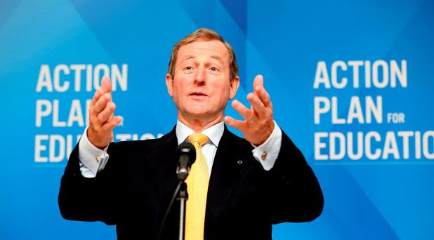 Going nowhere: Until another potential candidate steps forward, Fine Gael will be stuck with Enda Kenny as leader and the country will be stuck with him as Taoiseach. Photo: Tom Burke