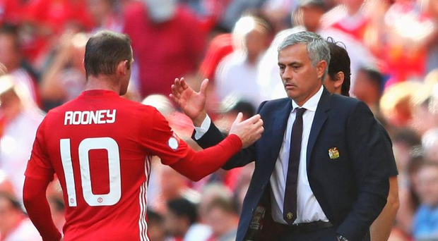 Wayne Rooney and Jose Mourinho Photo: Michael Steele/Getty Images