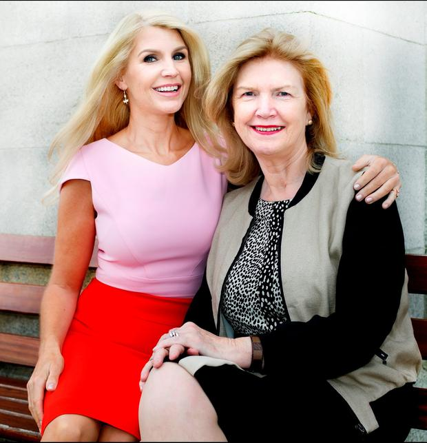 Thanks Mum: Celebrity Mum of the Year Yvonne Connolly is pictured with her own mum Ann, who she says taught her everything. Photo: Tony Gavin