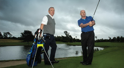 Sean Gallagher with Tony Judge, CEO of Clubs To Hire Photo: David Conachy