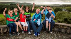 Damien and Noelle Loftus with their children Stephen aged 15, Alannah aged 13, Saoirse aged 10, Aoibheann aged 8, and John aged 6 at their home in Westport, Co. Mayo. Photo : Keith Heneghan / Phocus.