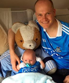 This must be the cutest fan you'll find, blue through and through #COYBIB #DUBvMAYO #IndoSubmit - writes Sinead O'Toole