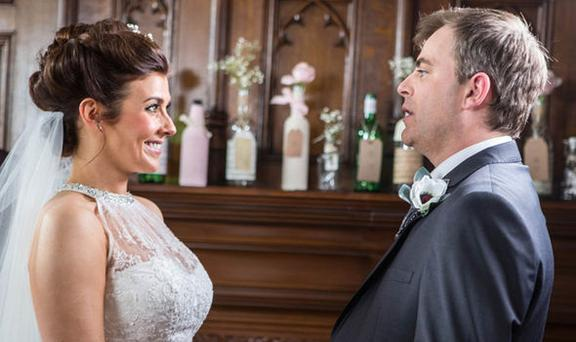 Steve and Michelle wed last year on the soap