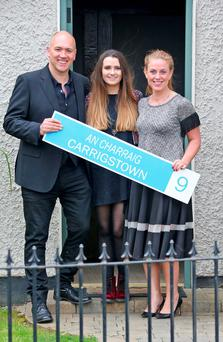 Niamh Quirke (Rachel Brennan) with her on-screen parents Tony Tormey (Paul Brennan), and Clelia Murphy (Niamh Brennan) on the set of RTE's Fair City pictured on the set of the show