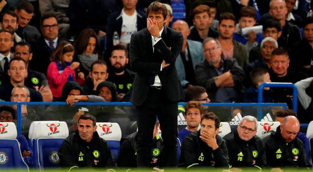 """Conte: """"We must not forget last season. It's important this."""" Photo credit: Reuters / John Sibley"""