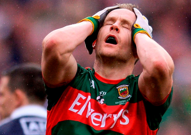 Mayo's Andy Moran reacts to a missed opportunity. Photo: Eóin Noonan/Sportsfile
