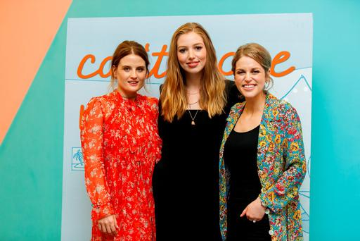 At the launch of RTÉ2's new drama 'Can't Cope, Won't Cope' at the Odeon, Point Village, were (l-r) Nika McGuigan, Seána Kerslake and Amy Huberman. Photo: Andres Poveda