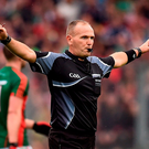 Referee Conor Lane was kept busy Picture: Sportsfile