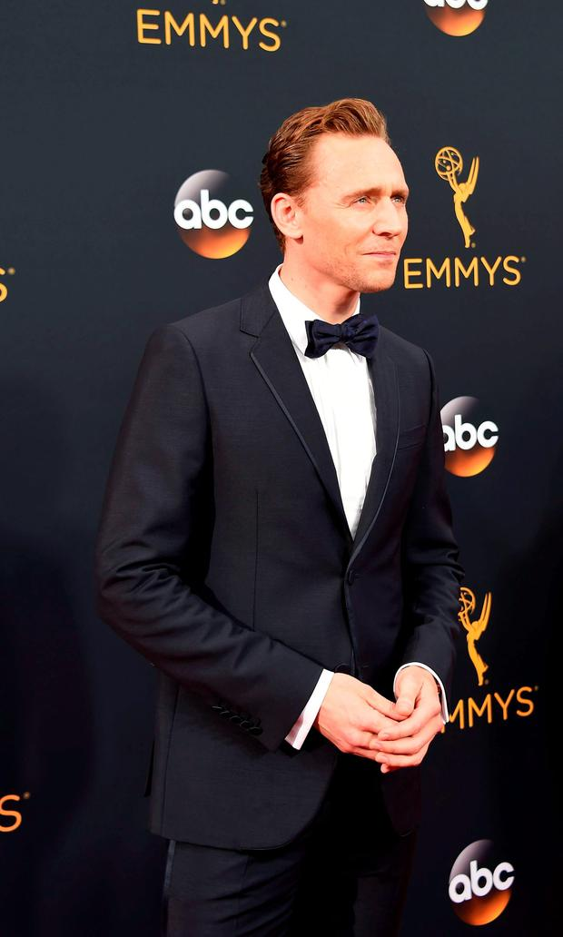 Actor Tom Hiddleston arrives for the 68th Emmy Awards