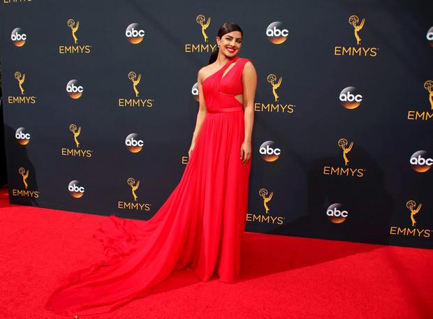 BEST: Priyanka Chopra sizzles in a red chiffon gown.
