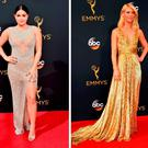 (L to R) Ariel Winter, Claire Danes and Anna Chumsky at the 2016 Emmy Awards
