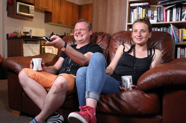 Aga and Szymon on Gogglebox Ireland