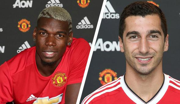 Paul Pogba and Henrikh Mkhitaryan arrived as part of Mourinho's summer re-build Getty