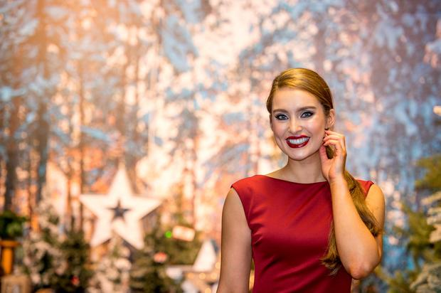 Roz Purcell launched Arnotts Christmas shop in its new location on the lower ground floor of the department store. Picture: Michael Chester