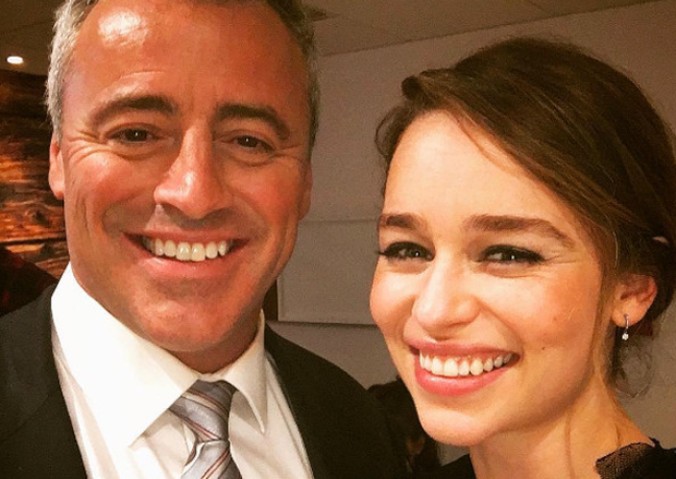 Matt LeBlanc and Emilia Clarke. Photo: Instagram