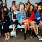 (L-R) Leigh-Anne Pinnock, Foxes, Pixie Geldof, Jessica Hart, Izzy Bizu and Ella Eyre attend the House of Holland runway show during London Fashion Week Spring/Summer collections 2017 on September 17, 2016 in London, United Kingdom. (Photo by Darren Gerrish/Getty Images)