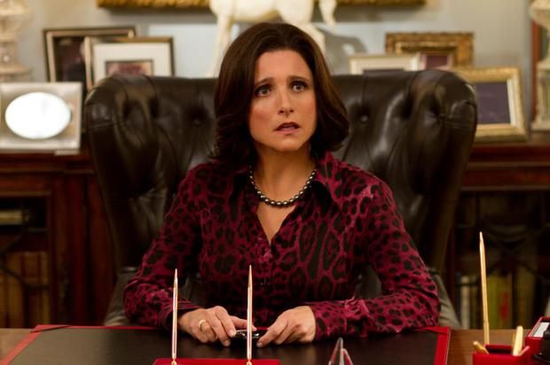 Senator Selina Meyer, played by Julia Louis-Dreyfus, in Veep.