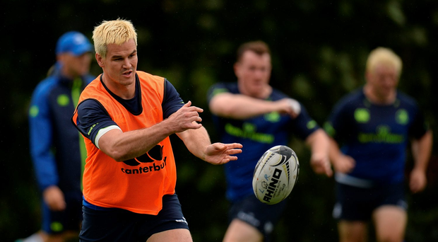 Jonathan Sexton of Leinster during training this week