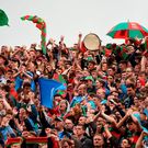 Dublin and Mayo supporters during the GAA Football All-Ireland Senior Championship Final