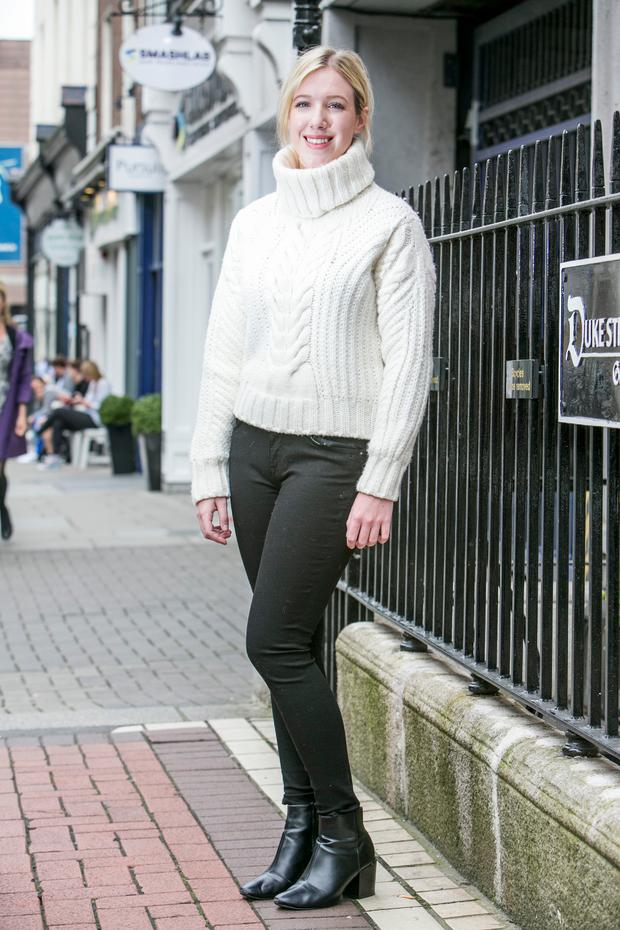 e307cd3247689 Amy Mulvaney wearing the roll neck sweater (€229) from the Tommy x Gigi  collection.