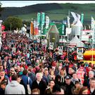 Large crowds at the National Ploughing Championships