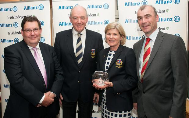 The Milltown Team: (from left) Aidan Hanratty, director of underwriting, Allianz, Peter MacCann, captain, Barbara Cotter, lady captain and John O'Grady, treasurer